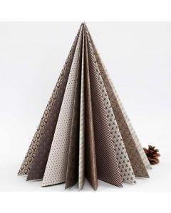 A folded Christmas Tree made from Vivi Gade Design Paper