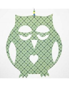 A large Owl cut out from Design Paper (the London series)