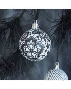 Christmas Baubles with Decoupage Paper from the Paris series