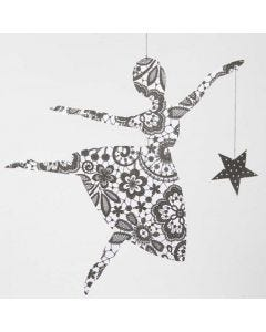 A Paris Design Paper Ballerina with a Star