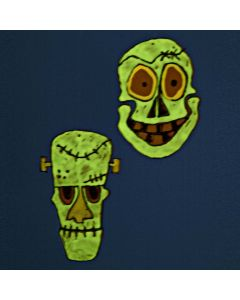 Hard Foil luminescent Mask hanging Decorations with Window Paint
