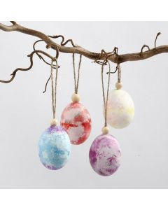 Natural Eggs coloured by using Crepe Paper
