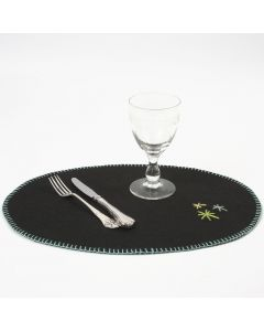 An embroidered Placemat made from Craft Felt