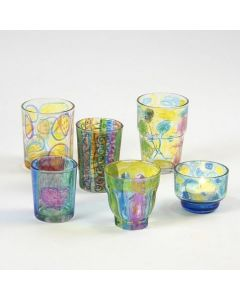 Candle Holders with Parker-Pen Patterns