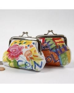 A Purse decorated with Textile Markers