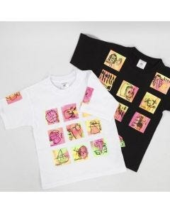 A T-Shirt with transfer-printed Pieces of Art