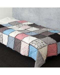 A Quilt made from Design Fabric with visible Seams