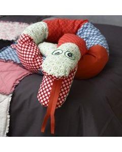 A Snake made from organic Vivi Gade Cotton Fabric