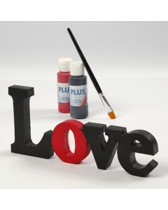 "A painted and varnished decorative Word - ""Love"""