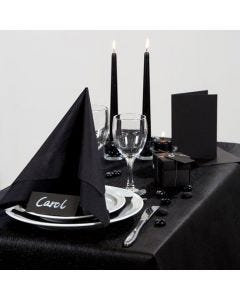 Party Inspiration with black Table Decorations etc.