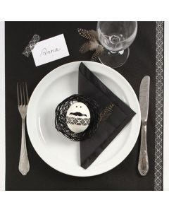 Decorating a Black and White Easter Table