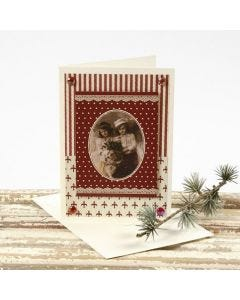 A Christmas Card with a Design from the Vivi Gade Design Paper