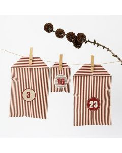 A Christmas Calendar made from Stripy Vivi Gade Design Bags