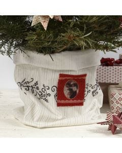 A Fabric Flowerpot Cover for the Christmas Tree