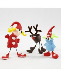 Christmas Figures made from Silk Clay, Stub Wires & Pipe Cleaners