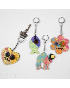 Decorated Wooden Key Fobs