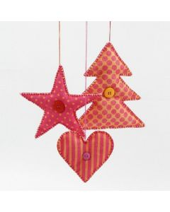 Hanging Decorations made from Felt Shapes
