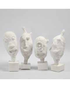Portraits as Sculptures made from a Balloon with Gauze Bandage