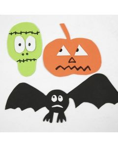 Magnetic Halloween Shapes made from Foam Rubber
