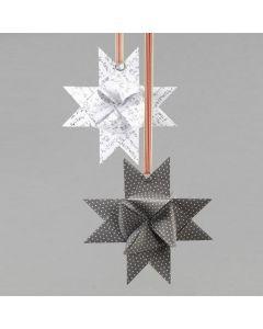A Split Ring on a woven Vivi Gade Design Paper Star