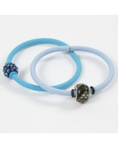 A Silicone Bracelet with Stop Rings around a Bead