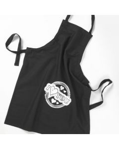An Apron with a Print using a Screen Stencil