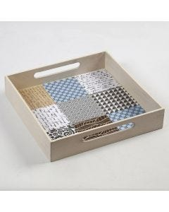 A Tray with Vivi Gade Design Paper Tiles