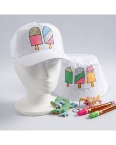 Textile Decoration with Ice Cream Designs