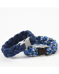 Plaited Bracelets from  Macramé Cord and with Click Fasteners