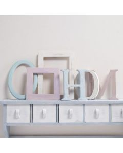 Wooden Letters and Frames, painted with Chalky Vintage Look Paint