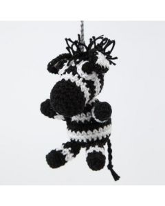 A crocheted Zebra from Cotton Yarn