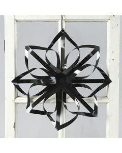 A Star made from Vivi Gade black Gloss Paper Star Strips