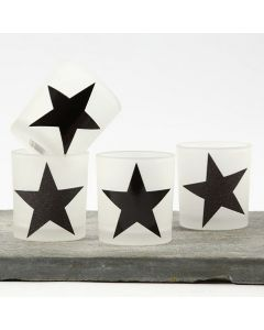 Candle Holders with Stars made from Design Paper