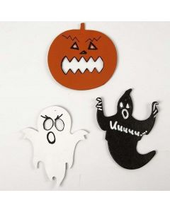 Card Figures for Halloween, painted and decorated
