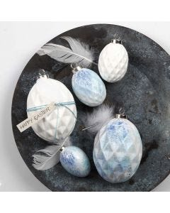 Spray-painted Terracotta Eggs