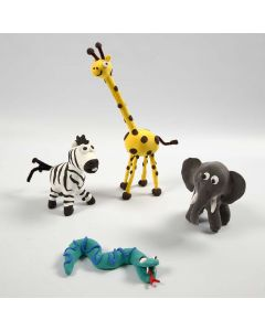 Wild Animals on Skeletons made with Silk Clay