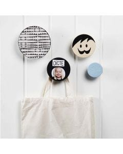 Decorated wooden Coat Hooks