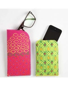 A Case made from thick Felt with Textile Decoration