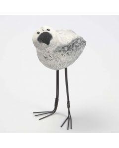A long-legged Polystyrene Bird covered with Papier-mâché Pulp