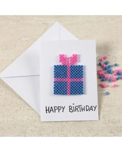 A Greeting Card with a Nabbi Bead Design
