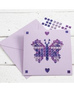 A Mosaic Greeting Card using small Stickers