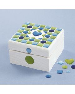A painted Mosaic Box