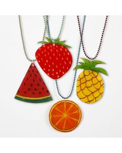 A Bead Chain with a Shrink Plastic Pendant