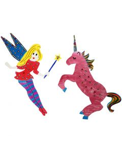 Card Figures decorated with Markers, Paint and Rhinestones