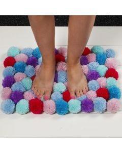 A soft Mat made from Pom-poms