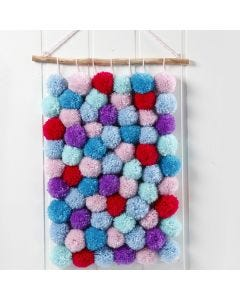 A Wall Hanging made from Pom-poms