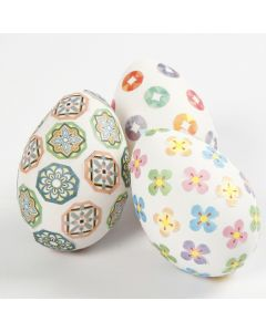 Eggs decorated with Masking Tape