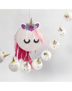 A Unicorn Lamp and a Fairy Light Garland