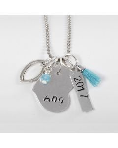 A Jewellery Tag with Text and Date