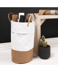 A Washing Basket made from Imitation Leather Paper